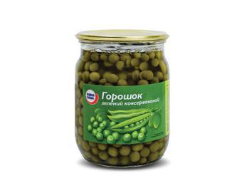 Скидка 31% ▷ Горошок зелений консервований «Повна Чаша»® 510г