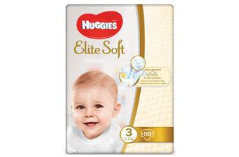 Підгузки Huggies Elite Soft Mega Pack 3 (5-9 кг) 80 шт./уп