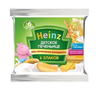 Печенье Хайнц 60 г дет. и дет. 6 злаков