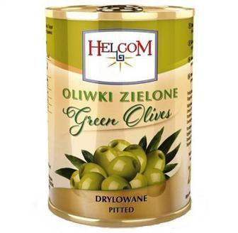 Оливки зелені з кісточкою Helcom 300 мл