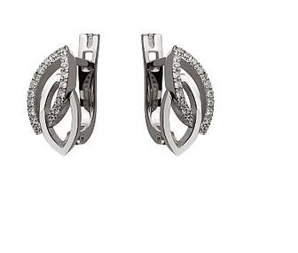 Золотые серьги с бриллиантами Артикул 15-000109302