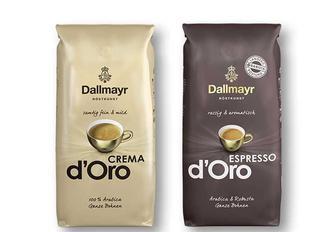 Кава Crema d'Oro 100% арабіка/ Espresso d'Oro 90% арабіка, 10 % робуста, в зернах Dallmayr Німеччина - 500 г