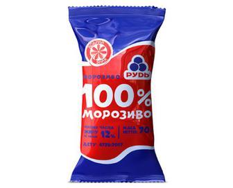 Морозиво «Рудь» «100% морозиво» у стаканчику, 70г