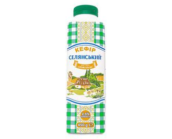 Кефір 2,5% жиру «Селянський» 450г