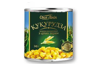 Кукурудза цукрова, консервована Своя Лінія - 340 г