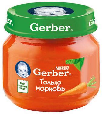 Пюре Gerber морковь (с 6 месяцев) 80 г