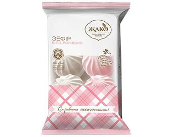 Зефір «Жако» біло-рожевий, 350г