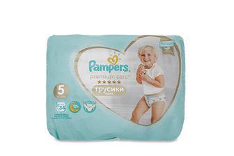 Підгузки-трусики Pampers Premium Care Pants Junior 12-17 кг 34 шт./уп