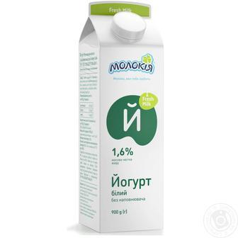 Йогурт Молокія белый питьевой 1.6%, 2.5% 430г