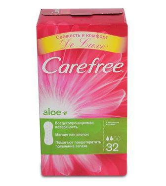 Прокладки щоденні Carefree Aloe Повітропроникні 32шт