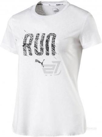 Футболка Puma Run S S Tee W р. XS білий 51627905