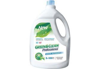 Green&Clean Professional гель для прання білої білизни, 3 л