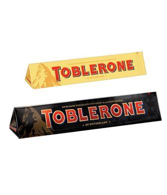 Шоколад молочний з родзинками та мигдалем або темний Тоблерон 100г