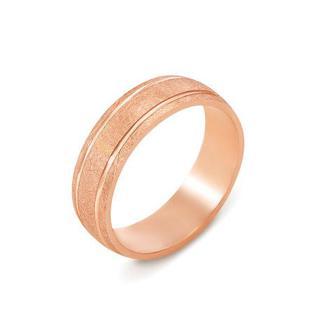 Обручальное кольцо с алмазной гранью. Артикул 10136