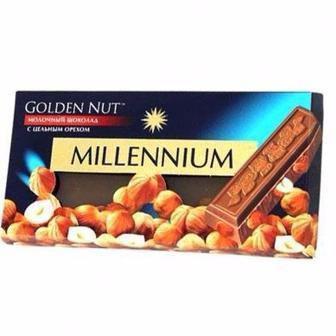 Шоколад Millennium Голд з горіхом молочний 100г