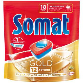 Засіб Somat Gold для посудомийних машин 18таб.