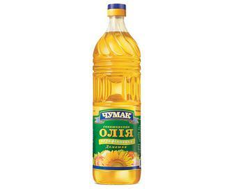 Олія соняшникова «Чумак» нерафінована, 0,9л