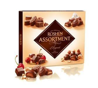 Цукерки Асортмент Класік темний шоколад 154 г Елегант молочний шоколад 145г Рошен