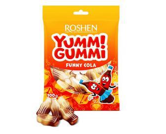 Цукерки Roshen желейні Yummi Gummi Funny Cola, 100г