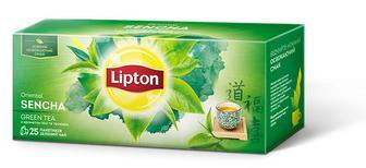 Чай Lipton Oriental Sencha c ароматом личи и розы в пакетиках Зеленый 25 пакетиков