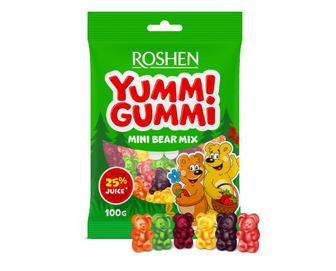 Цукерки Roshen желейні Yummi Gummi Mini Bear Mix, 100г