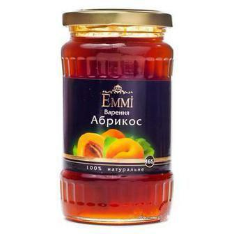 Варення  вишня, полуниця або абрикос  Emmi 465 г