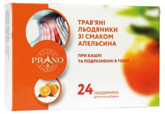 Леденцы PRANO от боли в горле и кашле апельсин №24