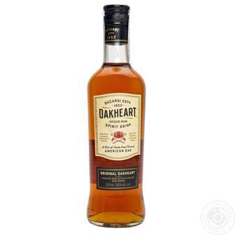 Ромовый напиток Bacardi Oakheart Original 12 месяцев выдержки 500мл 35%