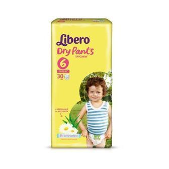 Підгузки-трусики Libero Dry Pants Розмір 6 (13-20 КГ) 30 шт