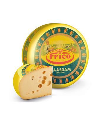 Скидка 31% ▷ Сир твердий Маасдам 45% Фріко 1 кг