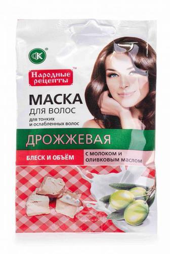 Маска для волос Fitoкосметик с молоком и оливковым маслом Дрожжевая, 30 мл