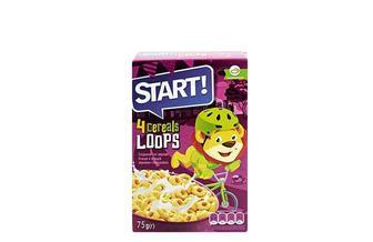 Сухі сніданки кільця зернові, глазуровані Start 75 г