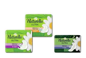 Прокладки гігієнічні Ultra Camomile Night, 7 шт. Ultra Camomile Maxi, 8 шт. Ultra Camomile Normal, 10 шт. Naturella