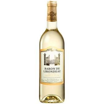 Вино Baron De Lirondeau Blanc medium sweet 0.75л