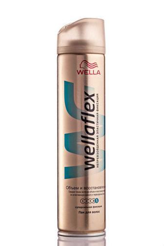 Лак для волос Супер сильной фиксации Объем и восстановление 250 мл ВеллаФлекс