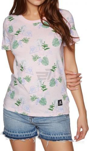 Футболка Converse Essentials Palm Print Tee 10005798-653 S рожевий