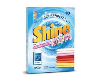 Порошок пральний Shine автомат «Весняна свіжість» 400г