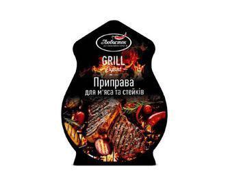 Приправа «Любисток» Grill Expert для м'яса та стейків, 30г