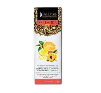 Чай зeлeний з цедрою лимону, апельсину та пeлюстками календули De Luxe Foods&Goods Selected 80 г