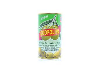 Оливки/Маслини зелені з кісточкою 370мл 350г Coopoliva