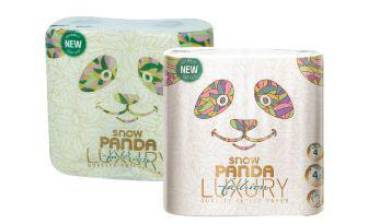 Скидка 36% ▷ Папір туалетний Лакшері Сніжна Панда 4 шт в упаковці, 1 уп.
