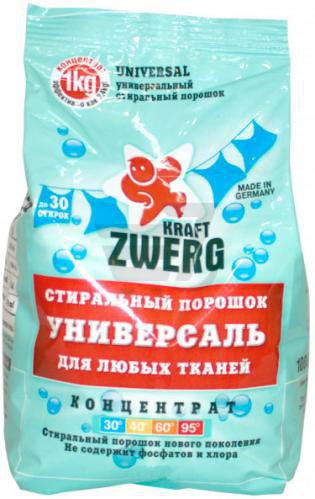 Пральний порошок універсал Kraft Zwerg універсальний 1 кг