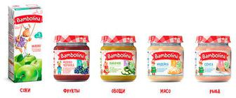 Дитяче харчування Bambolina пюре та сік
