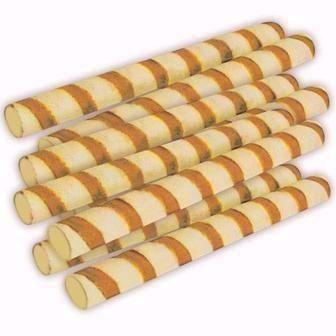 Вафельні трубочки зі смаком шоколаду або згущеного молока Хрумка 100г