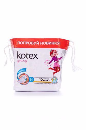 Прокладки критические KOTEX Янг Нормал 10шт
