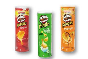 Чіпси картопляні зі смаком сметани та цибулі/ зі смаком паприки/Original Pringles 165 г
