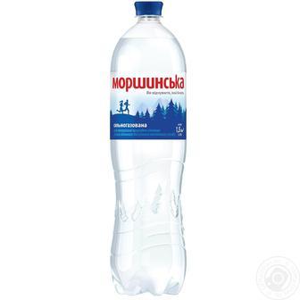 Вода слабогазована, газована, негазована Моршинська 1,5 л