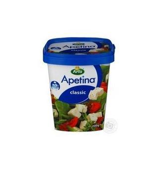 Сир м'який кубиками в розсолі Апетіна 200г 50% Arla Данія