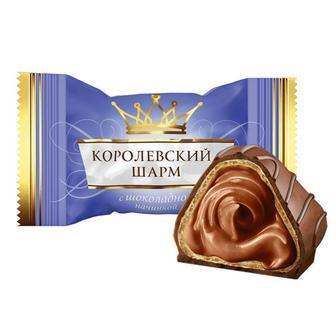 Цукерки Королівський Шарм з вершковою, горіховою, шоколадною, кокосовою начинкою АВК 100г