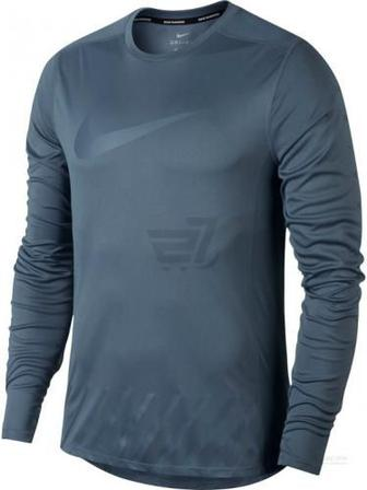 Футболка Nike Dry Miler Long Sleeve Running Top SSNL GX AW1718 856878-497 р. L синій